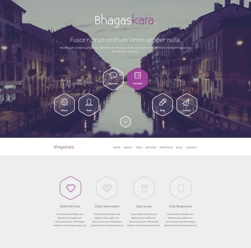 Professional Onepage PSD Template