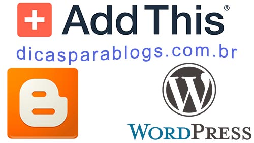 Addthis para Blogger e Wordpress