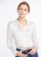 500 white 22mm relaxed consealed placket silk shirts 01 - SHOP