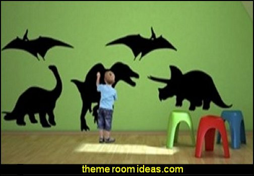 Chalkboard Wall Decal, Large Dinosaurs