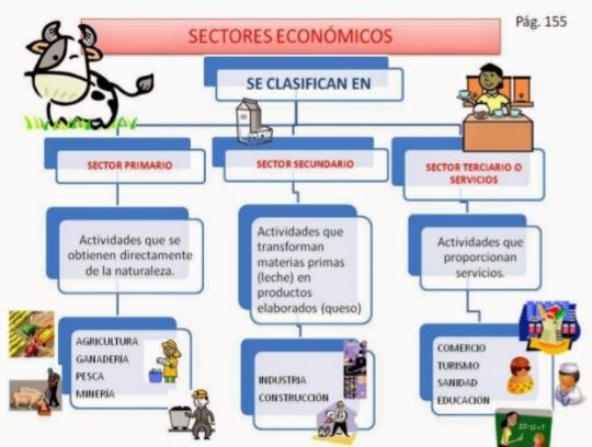 Cuarto conectado: Los sectores económicos