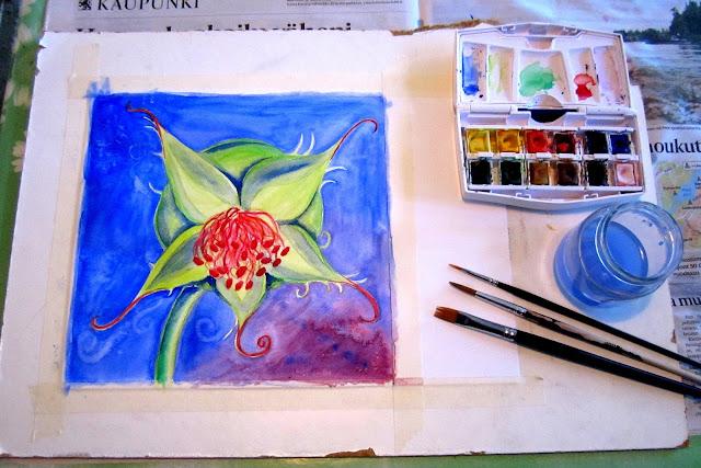 Rose Hip Watercolor Painting