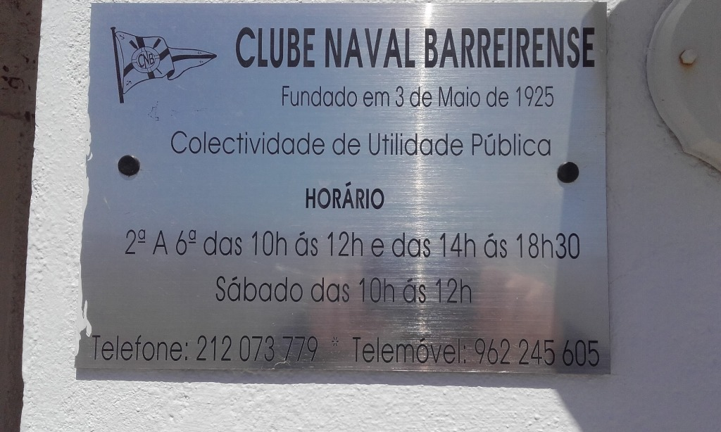 Clube Naval Barreirense - Placa