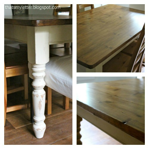 farmhouse dining table collage