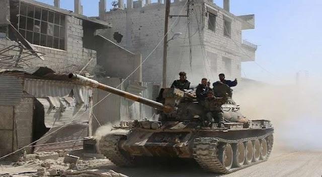 الجيش السوري يحرر الجزء الجنوبي من حي الحجر الأسود بالكامل.(فيديو)