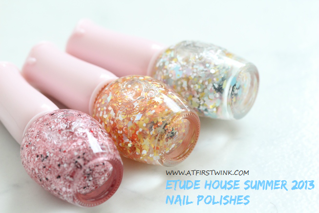 Etude House Summer 2013 glitter nail polishes