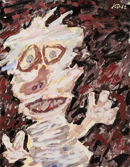 """Personnage (buste)"" (1962) by Jean Dubuffet"