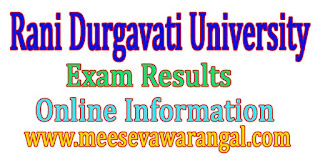 Rani Durgavati University BBA 3rd Sem 2016 Exam Results