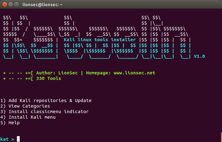 IT Security : KATOOLIN - AUTOMATICALLY INSTALL ALL KALI LINUX TOOLS