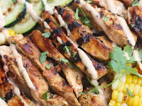 BBQ Ranch Grilled Chicken and Veggie Bowls