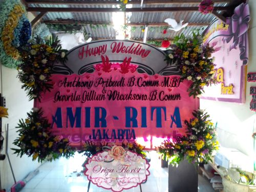 Papan Bunga Wedding Amir Rita Jakarta