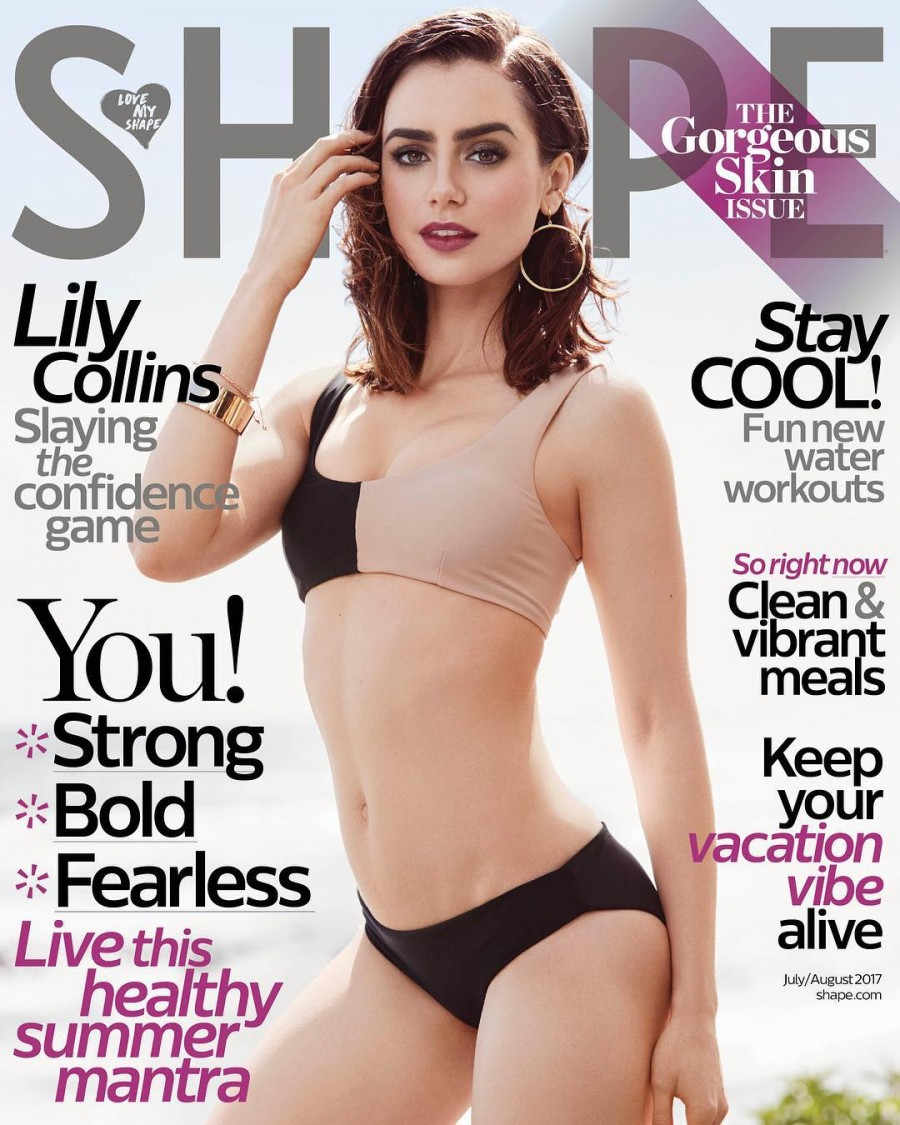 Lily Collins Goes Bold for Shape Magazine