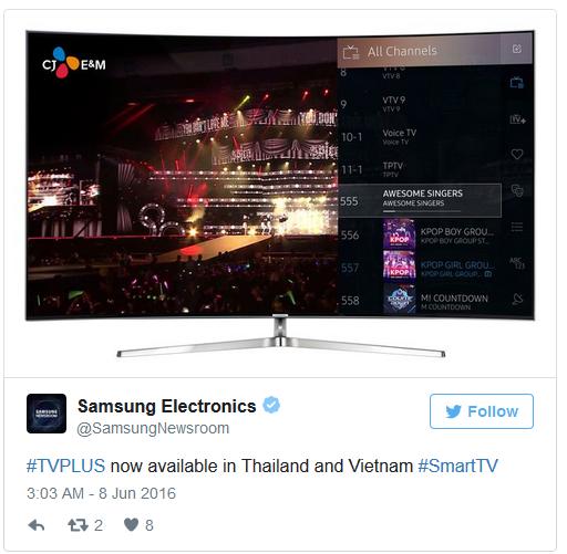 Samsung launches TV Plus service in Thailand and Vietnam - T4tek