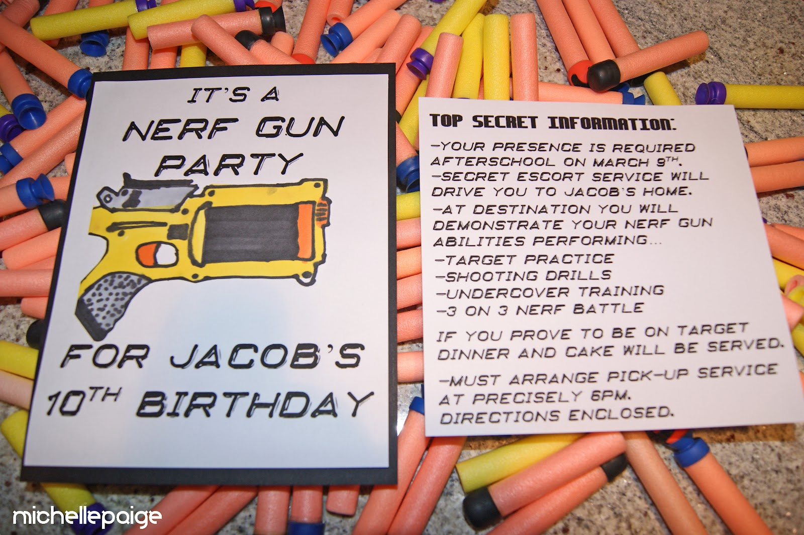 Michelle Paige Blogs Nerf Gun Party 3x3 Super Set Circuit Workout Working It Out Pinterest Was Drawn By My Son