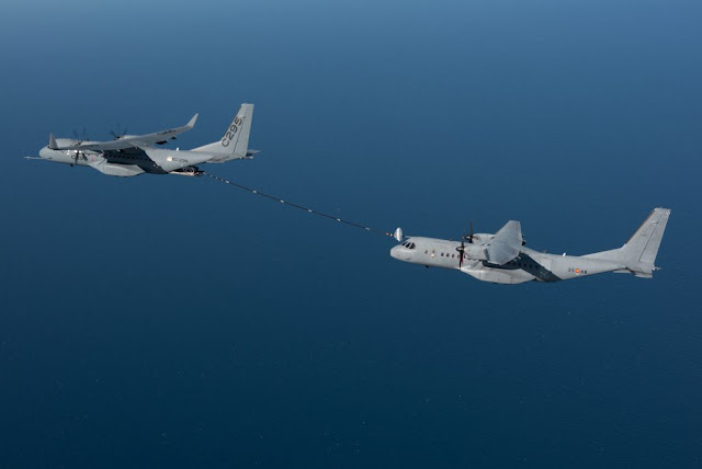 AIRBUS TEST THE C295 AS TANKER
