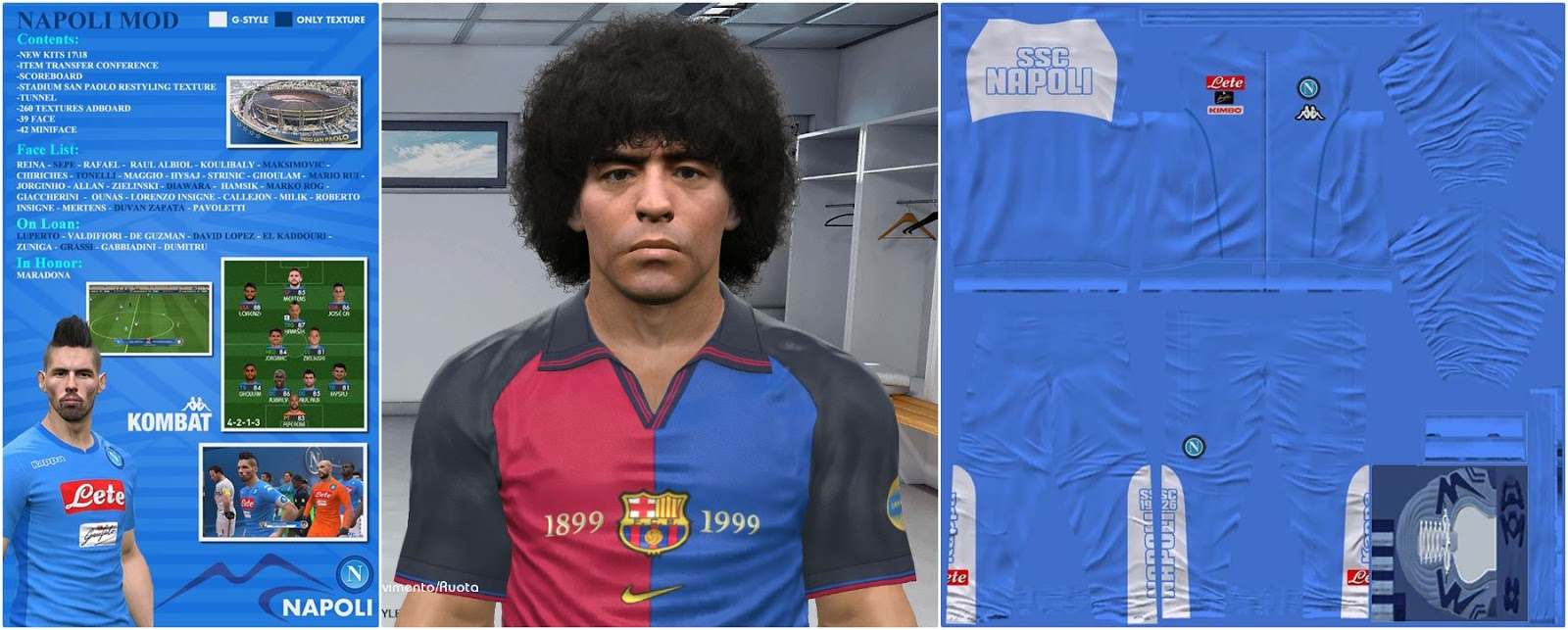 Ultigamerz Pes 2017 Patch 17 Update 2018 Bip Aio Beautiful Indonesia G Napoli Mod New Big Features