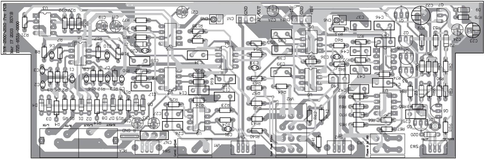 KEF PSW 2500 Powered Subwoofer – Schematic Diagram