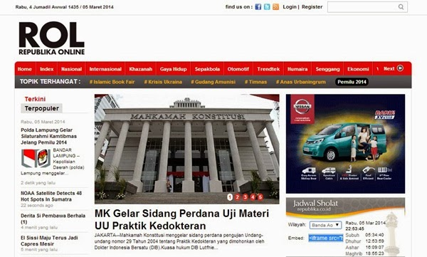 ROL, Media Online Bernuansa Islam, media islam, republika online, khazanah republika, harian republika