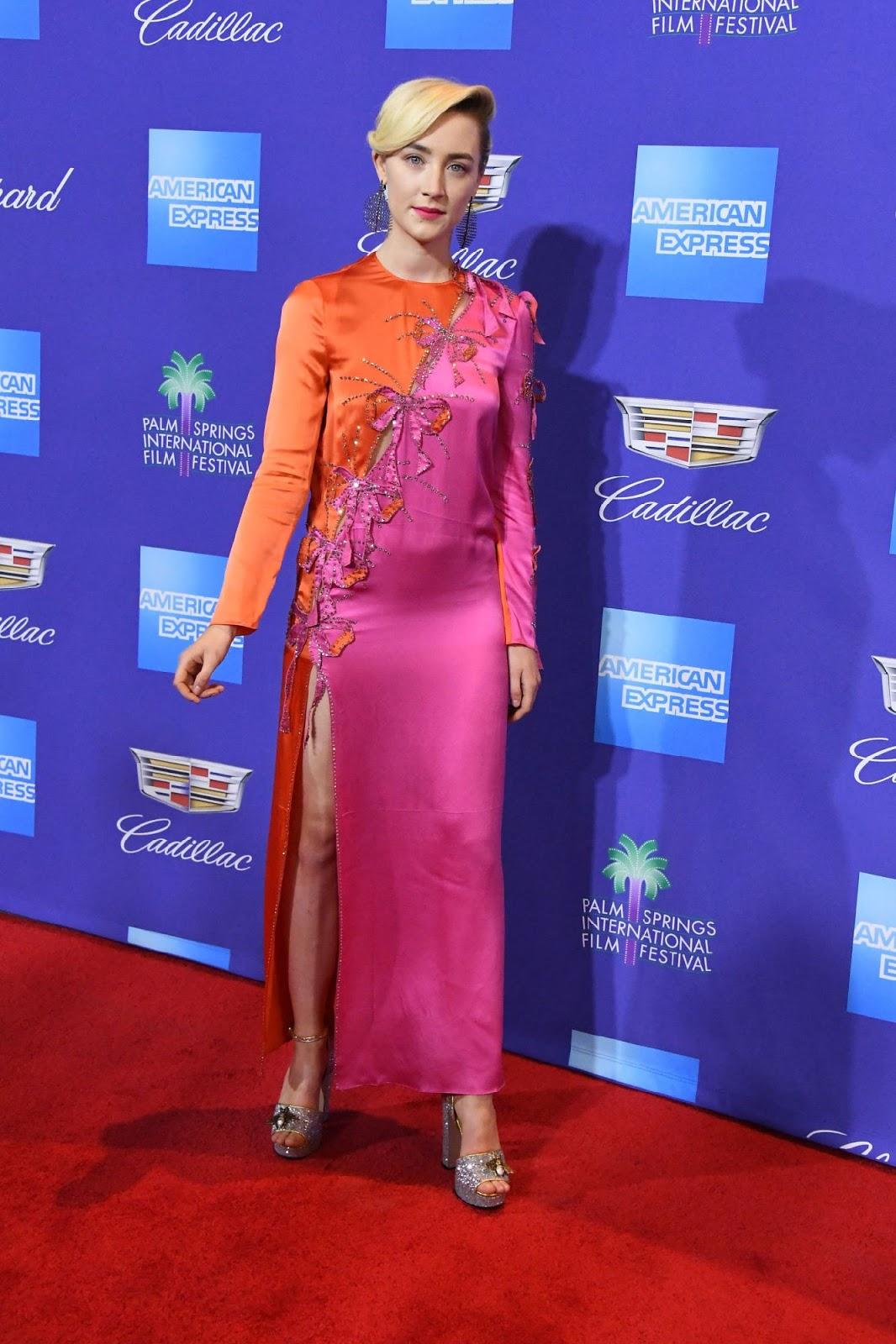 Saoirse Ronan Posing at 29th Annual Palm Springs International Film Festival