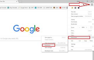 cara membuka situs yang diblokir di google chrome PC
