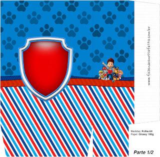 Cajas para Imprimir Gratis de Paw Patrol.