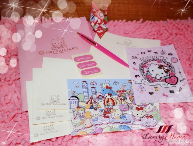 pink hello kitty stationery set christmas giveaway