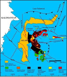 Peta Tektonik Regional Pulau Sulawesi