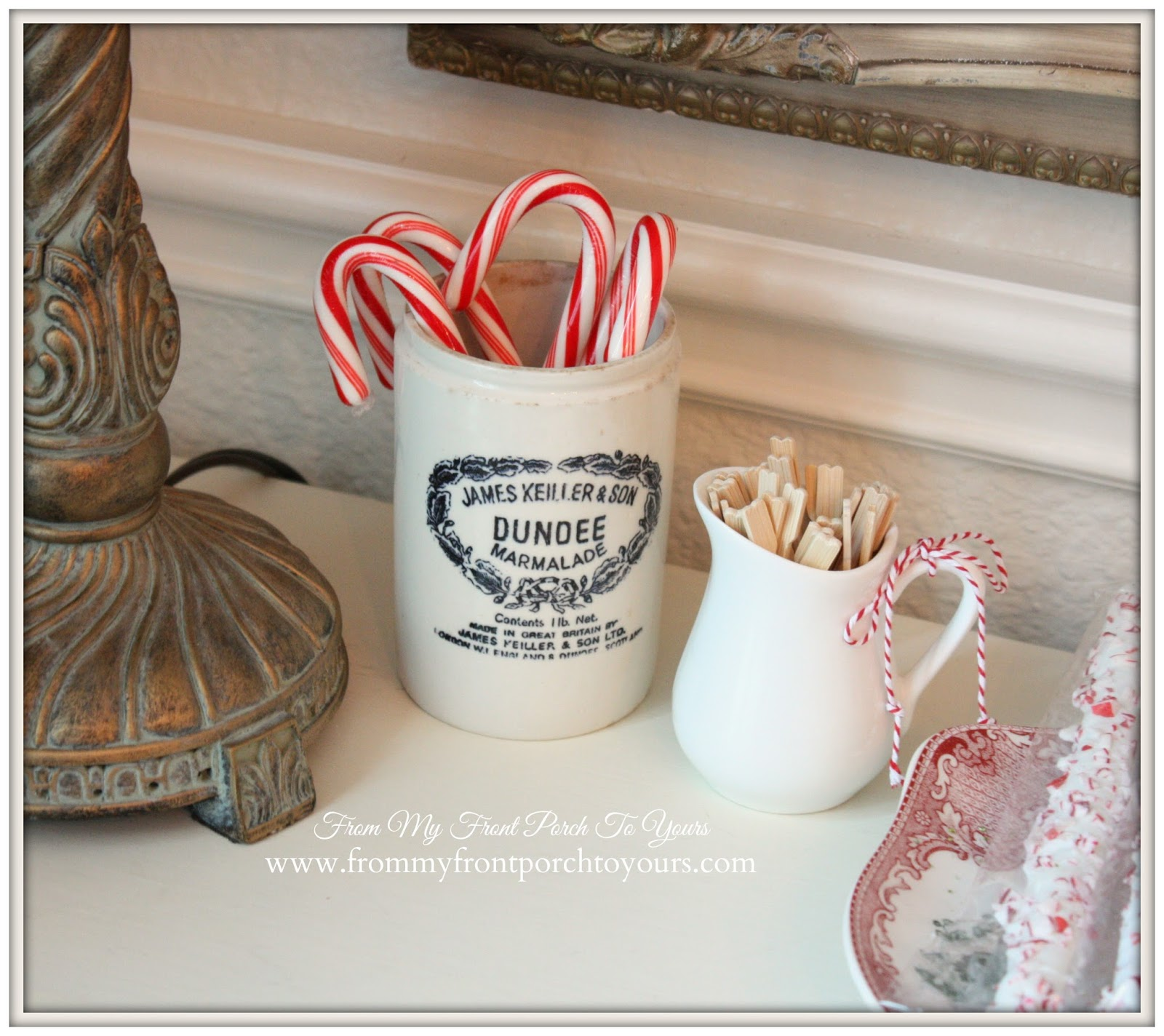 Dundee Marmalade Jar-French Farmhouse Vintage Christmas Dining Room- From My Front Porch To Yours
