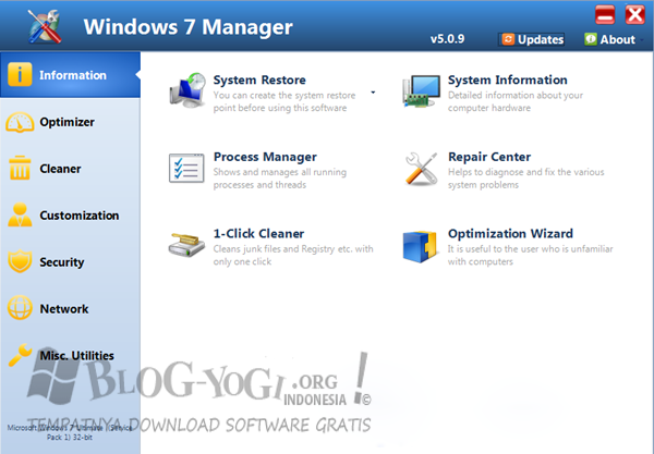 Windows 7 Manager 5.1.9 Terbaru Full Version