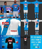 PES 2013 Napoli Home & Away & Third Kits 2016-17