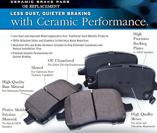 EURO-1307 8422 Rear Disc Brake Pad