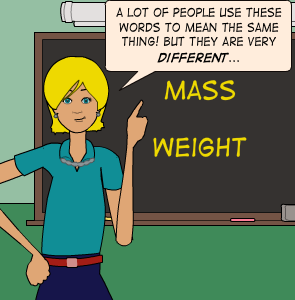 mass and weight differences and relationship