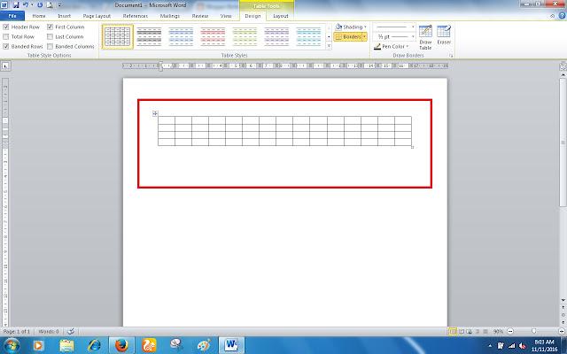 Cara Mudah Membuat Tabel Di Ms Word