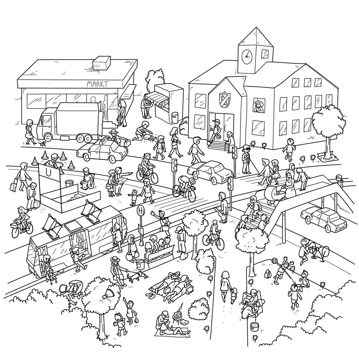 1fips' Fabrik-Blog: Wimmelbild zum Ausmalen
