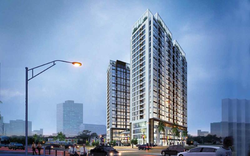 Phối cảnh dự án chung cư Green Pearl Minh Khai