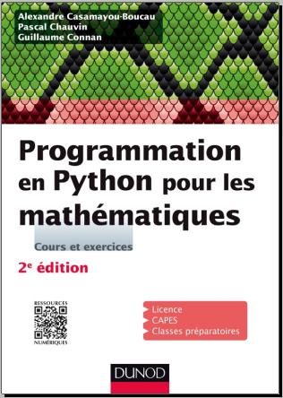 Livre : Programmation en Python pour les mathématiques - Dunod 2016