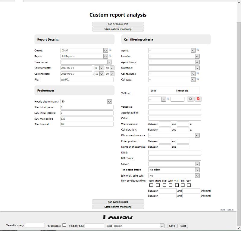 QueueMetrics 15 10 will be released in October with Custom Report