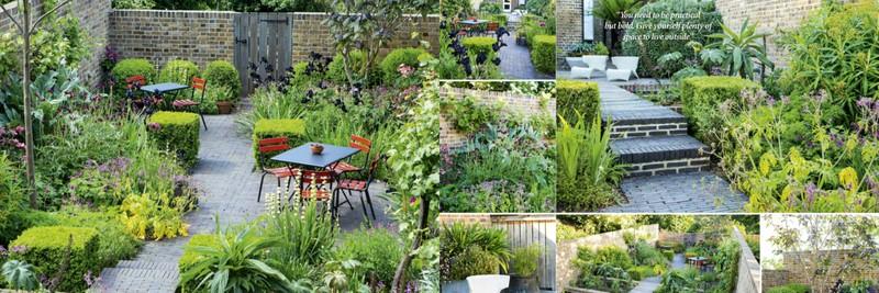 Pequeño jardín urbano paisajista Jinny Blom. Si el espacio es pequeño, delimita bien los diferentes ambientes para que todo fluya