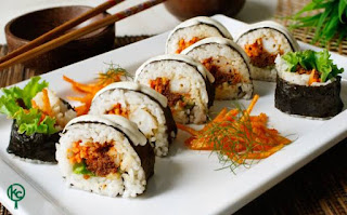 Sushi Rendang Udang - Kreasi Chef Indonesia