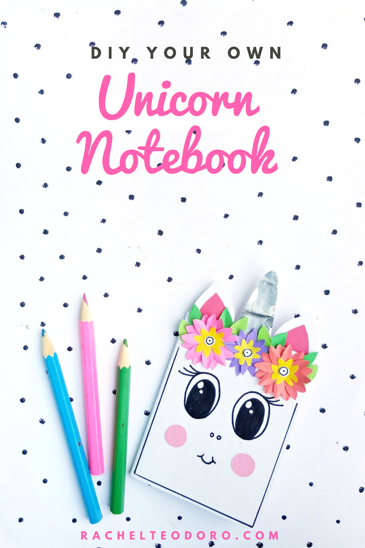paper unicorn with flowers craft