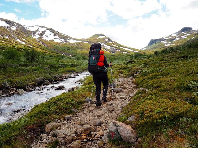 Jezero, příroda, Norsko, Jotunheimen, kameny, řeka