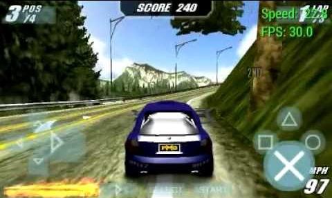 BURNOUT LEGENDS Game PSP High Compress