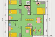 3-Room House Plan Size 6 × 12 Best and Latest