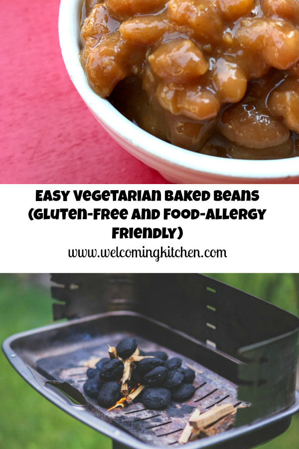 Easy Vegetarian Baked Beans from Welcoming Kitchen (vegan, gluten-free, and food-allergy friendly)