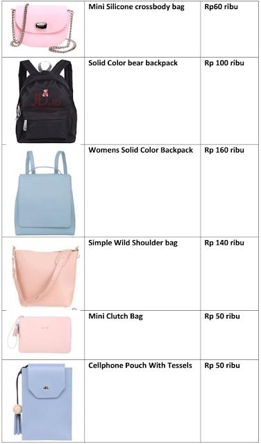 Katalog Harga Tas Miniso 2018 Paling Lengkap