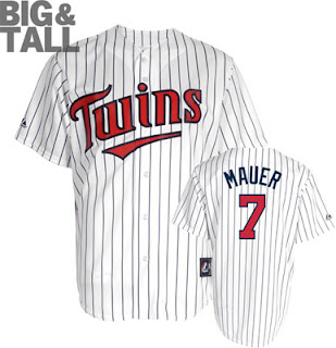 Big and Tall Joe Mauer Minnesota Twins Jersey
