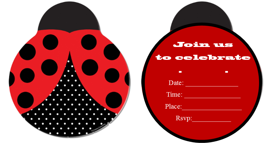 Ladybug Invitation Ideas as beautiful invitations sample