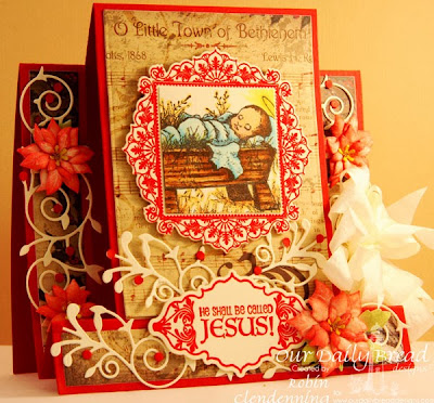 Our Daily Bread Designs, Ornate Borders and Flowers, ODBD Christmas Paper 2013