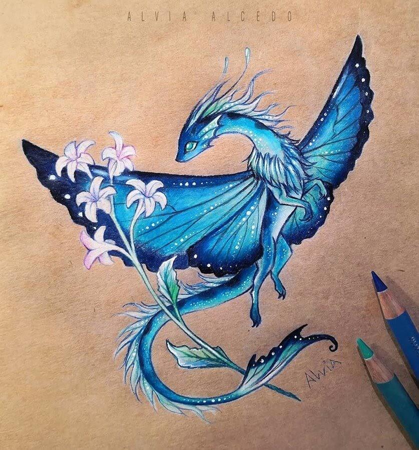 02-Blue Morpho Dragon-Alvia-Alcedo-www-designstack-co