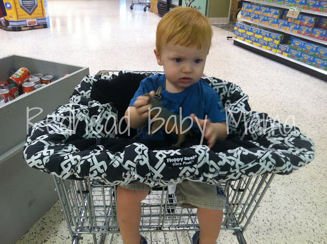 Review Floppy Seat Shopping Cart Cover Redhead Baby Mama
